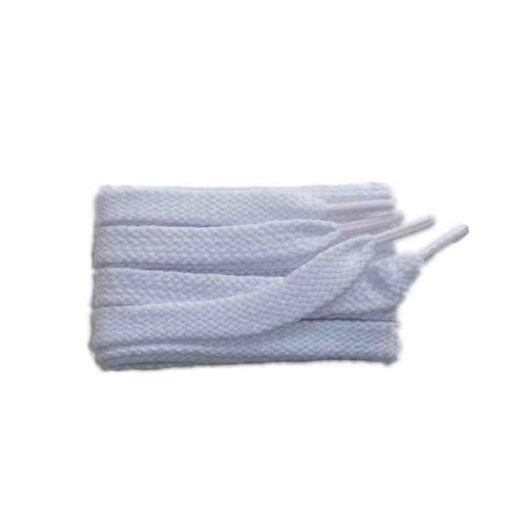 Schnürsenkel/Schuhband sport, 75 cm, weiss, flach