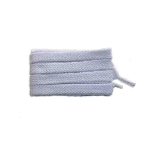 Schuhband sport, 120 cm, weiss, flach