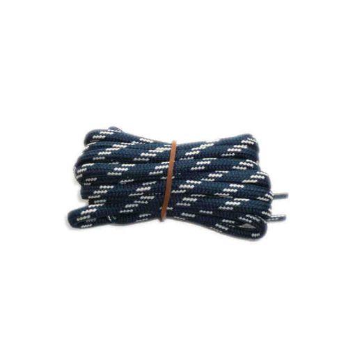 Schnürsenkel/Schuhband rund dick 120 cm blau/weiss für Bergsport, Trekking, Outdoor