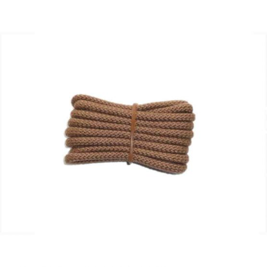 Schuhband klassisch, 120 cm, hellbraun, sport rund