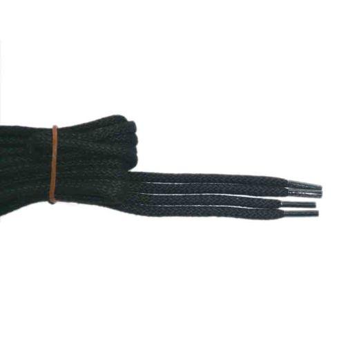 Schuhband klassisch, 120 cm, schwarz, sport rund