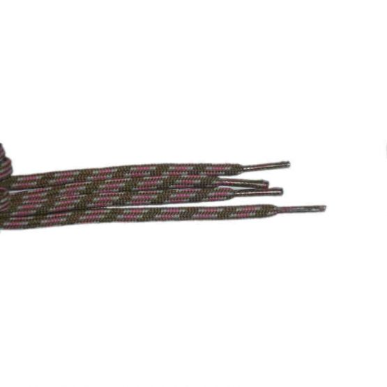 Shoelace stylish 90 cm brown / grey / pink