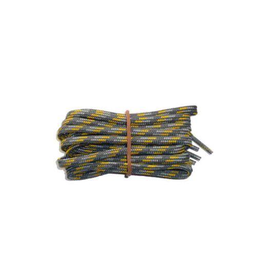 Schuhband modisch 75 cm grau / hellgrau / gelb