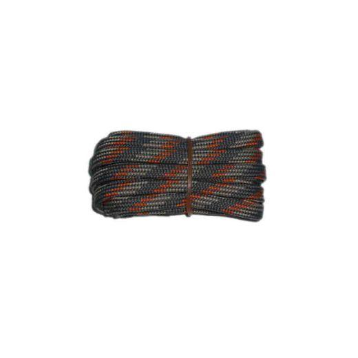 Shoelace semicircle 120 cm strong grey / light grey / orange for Mountaineering, Trekking, Outdoor