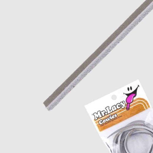 Mr Lacy 90 cm Dark Grey Cowies - Leather / Leder Schnürsenkel