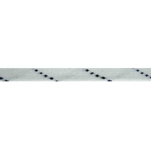 Hockey Senkel 275 cm flach weiss/schwarz