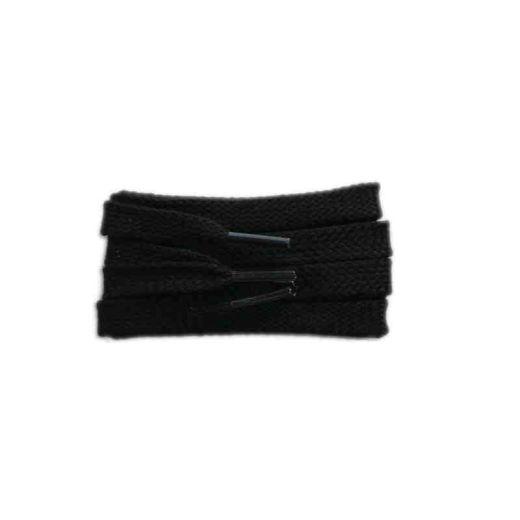 Schnürsenkel/Schuhband sport, 150 cm, schwarz, flach