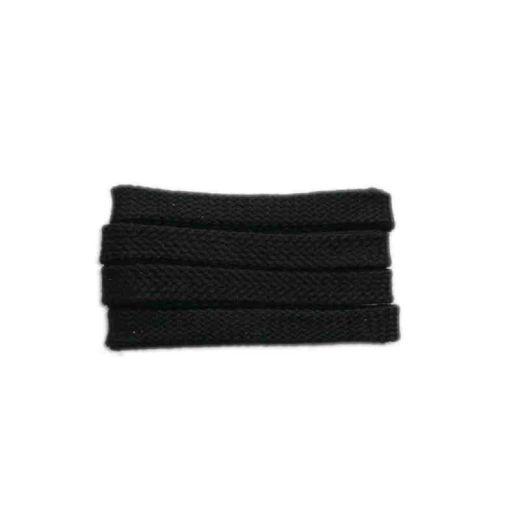 Shoelace sportive, 180 cm, black, flat