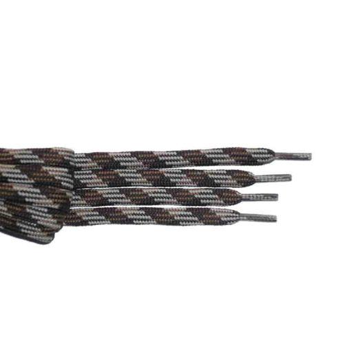 Schnürsenkel/Schuhband halbrund 150 cm braun/mittelbraun/hellbraun für Bergsport, Trekking, Outdoor