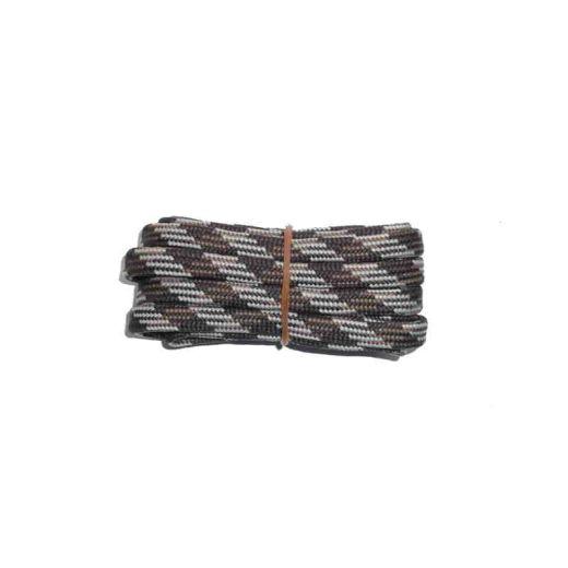 Schuhband halbrund 200 cm braun/mittelbraun/hellbraun für Bergsport, Trekking, Outdoor