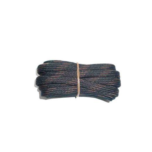 Schnürsenkel/Schuhband halbrund 150 cm schwarz/braun für Bergsport, Trekking, Outdoor