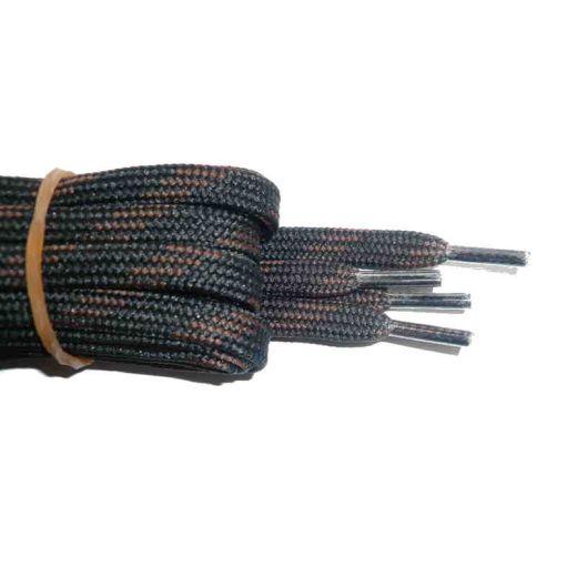 Schnürsenkel/Schuhband halbrund 180 cm schwarz/braun für Bergsport, Trekking, Outdoor