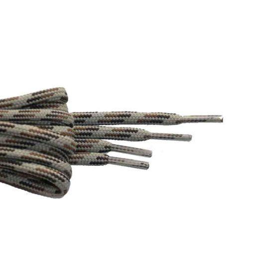 Schuhband rund dick 180 cm braun/hellbraun/weiss für Bergsport, Trekking, Outdoor