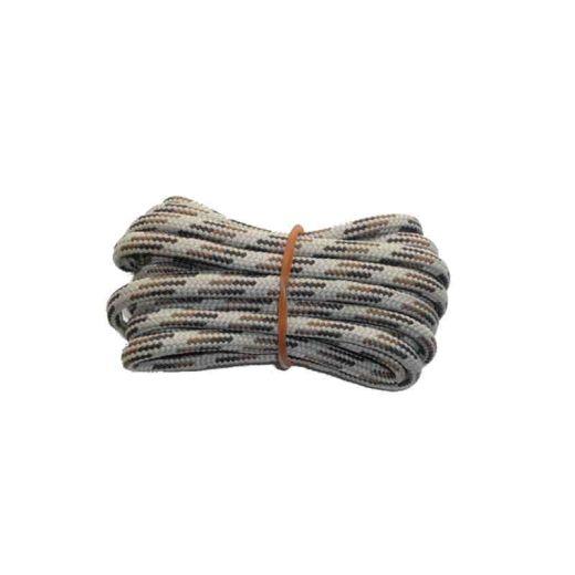 Schuhband rund dick 200 cm braun/hellbraun/weiss für Bergsport, Trekking, Outdoor