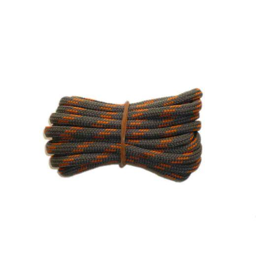 Schnürsenkel/Schuhband rund dick 150 cm grau/orange für Bergsport, Trekking, Outdoor