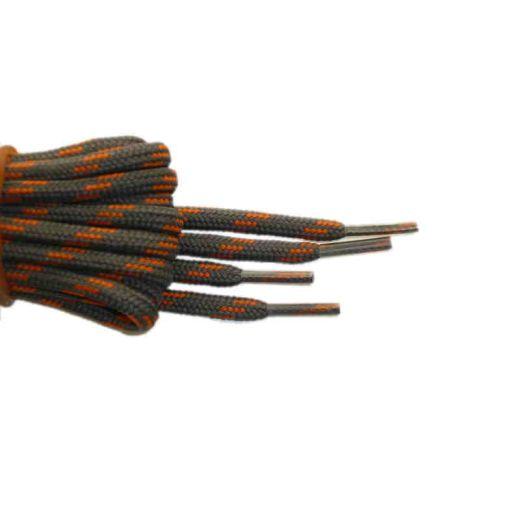 Schnürsenkel/Schuhband rund dick 200 cm grau/orange für Bergsport, Trekking, Outdoor