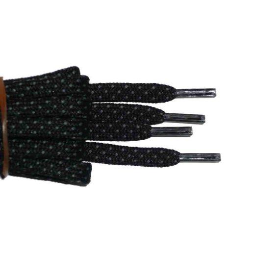 Schuhband halbrund 180 cm schwarz/grau für Bergsport, Trekking, Outdoor Sport