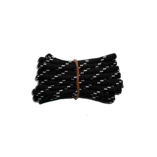 Schnürsenkel/Schuhband rund dick 200 cm schwarz/weiss für Bergsport, Trekking, Outdoor Sport