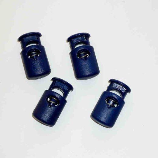 Kordelstopper eckig oval blau