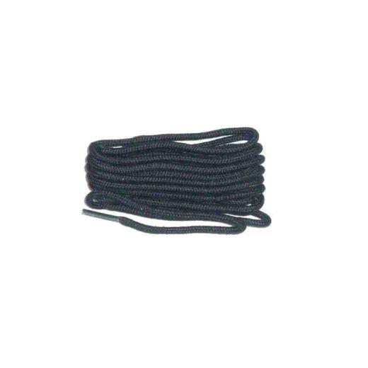 Schuhband klassisch, 120 cm, schwarz, dünn