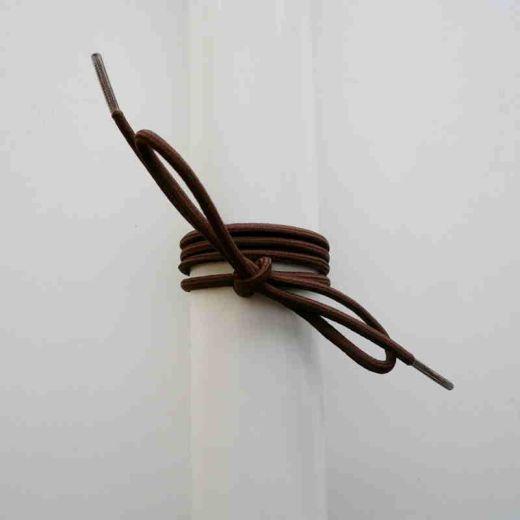 Schnürsenkel/Schuhband Gummi dünn, rund, 65 cm, braun
