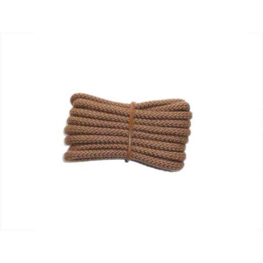 Schuhband klassisch, 65 cm, hellbraun, sport rund
