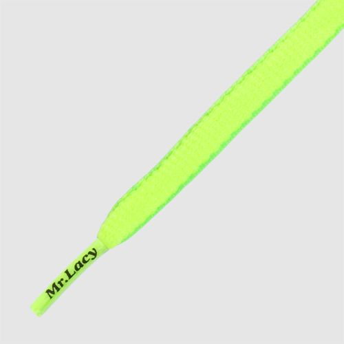 Mr Lacy 130 cm neon lime yellow / neon green, oval, Slimmies