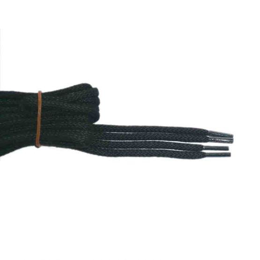Schuhband klassisch, 150 cm, schwarz, sport rund