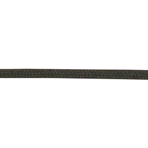 Schuhband dünn, rund, 60 cm, schwarz-braun