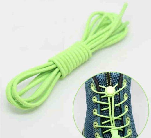 Elastic Locking Laces Neon Green