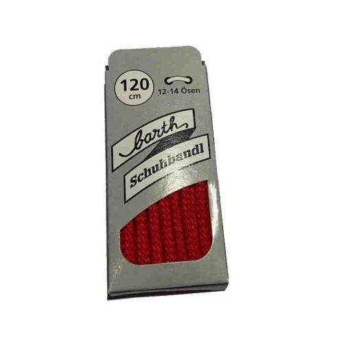 Schnürsenkel/Schuhband klassisch, 120 cm, rot, sport rund