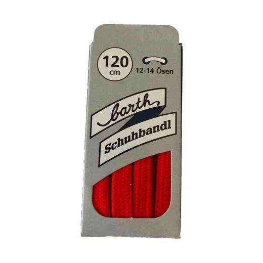 Sneaker Schnürsenkel, Farbe: Rot, flach, 120 cm