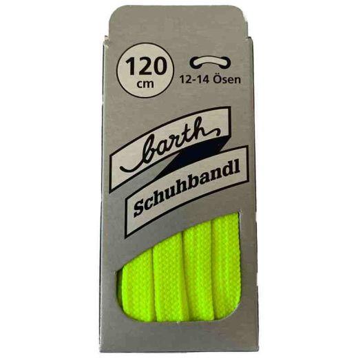 Sneaker Schnürsenkel, Farbe: Neon Grün, flach, 120 cm