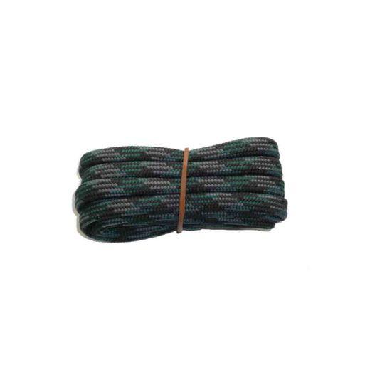 Schuhband halbrund 120 cm schwarz/grau/grün für Bergsport, Trekking, Outdoor