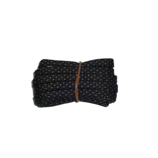 Schuhband halbrund 120 cm schwarz/grau für Bergsport, Trekking, Outdoor Sport