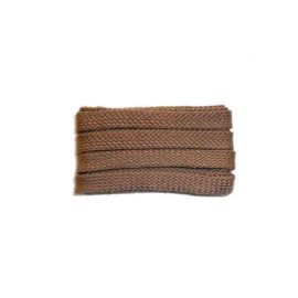 Shoelace sportive, 120 cm, light brown, flat