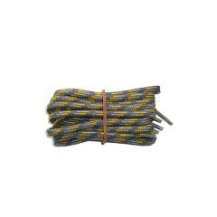 Schuhband modisch 65 cm grau / hellgrau / gelb