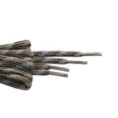 Schnürsenkel/Schuhband rund dick 120 cm braun/hellbraun/weiss für Bergsport, Trekking, Outdoor