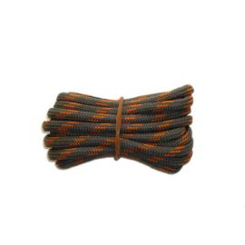 Shoelace circle strong 120 cm grey / orange for Mountaineering, Trekking, Outdoor