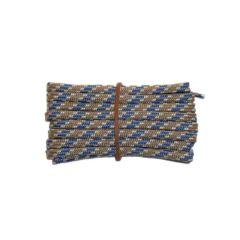Schnürsenkel/Schuhband modisch 65 cm hellgrau / weiss / blau