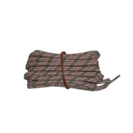 Shoelace stylish 65 cm brown / grey / pink
