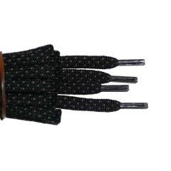 Schuhband halbrund 150 cm schwarz/grau für Bergsport, Trekking, Outdoor Sport