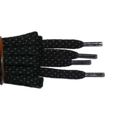 Schuhband halbrund 200 cm schwarz/grau für Bergsport, Trekking, Outdoor Sport