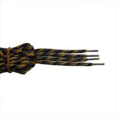 Schnürsenkel/Schuhband rund dick 150 cm schwarz/grau/gelb für Bergsport, Trekking, Outdoor