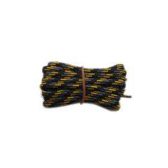Schuhband rund dick 180 cm schwarz/grau/gelb für Bergsport, Trekking, Outdoor