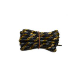 Shoelace circle strong 200 cm black / grey / yellow for Mountaineering, Trekking, Outdoor
