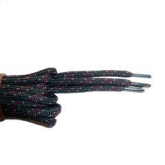 Schnürsenkel/Schuhband rund dick 200 cm schwarz/grau/rot für Bergsport, Trekking, Outdoor