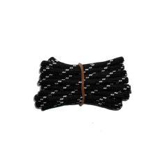 Schuhband rund dick 200 cm schwarz/weiss für Bergsport, Trekking, Outdoor Sport