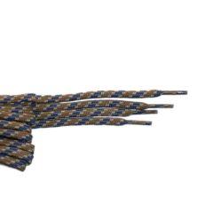 Schnürsenkel/Schuhband modisch 75 cm hellgrau / weiss / blau