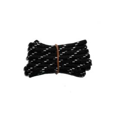 Schnürsenkel/Schuhband rund dick 120 cm schwarz/weiss für Bergsport, Trekking, Outdoor Sport